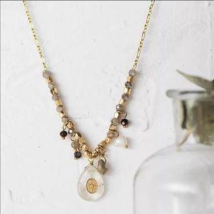 Quartz charm necklace. NWB.